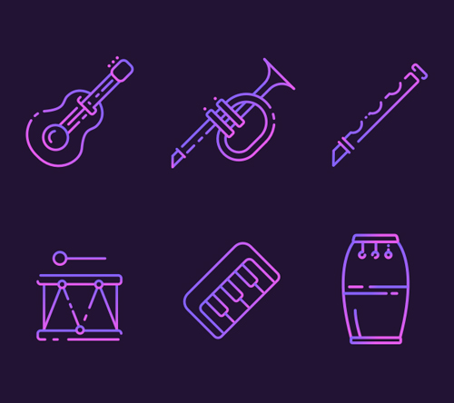 Free Musical Instruments Icons