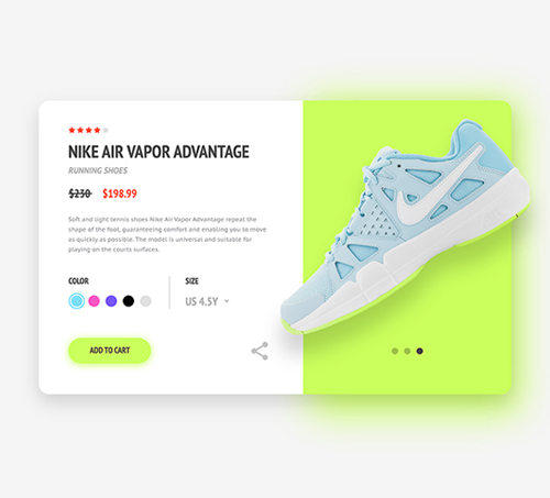 Free Product Page UI Design Template