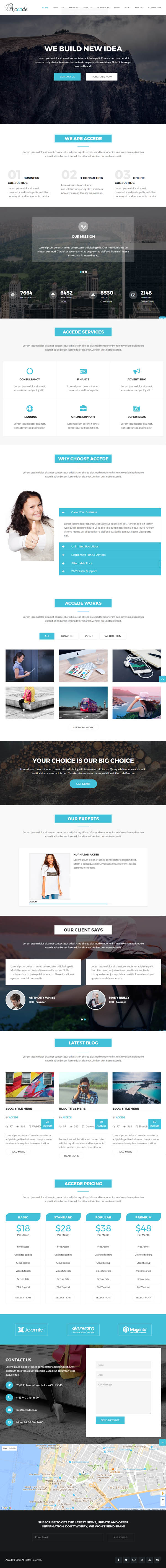 Accede - Business, Agency, Corporate, Consultancy Template