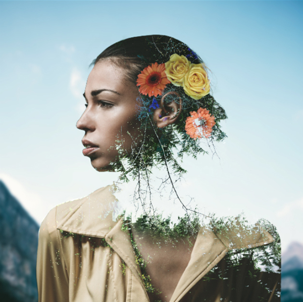 How to Create a Double Exposure Portrait with Photoshop
