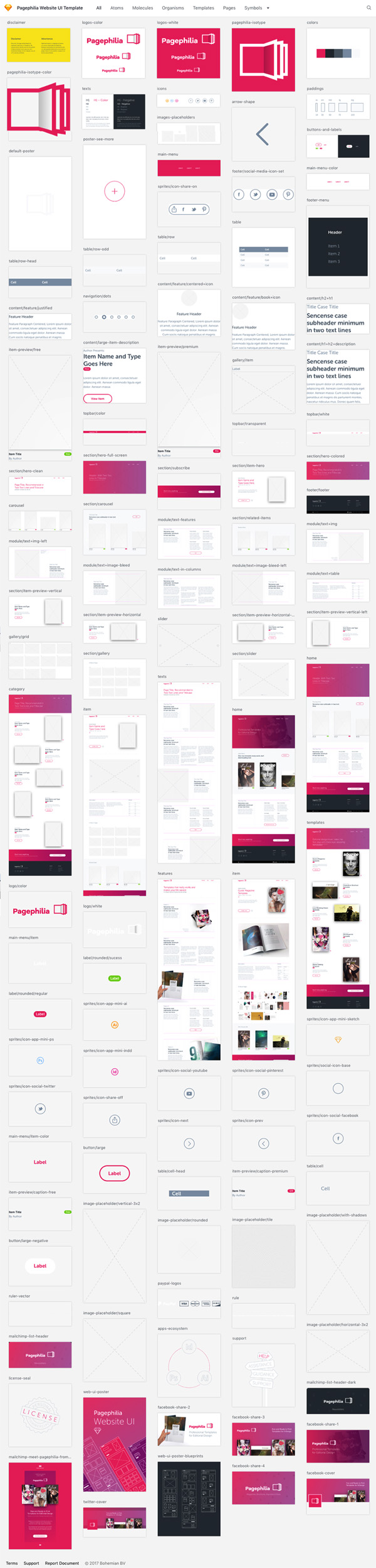 Pagephilia Website UI Kit Template