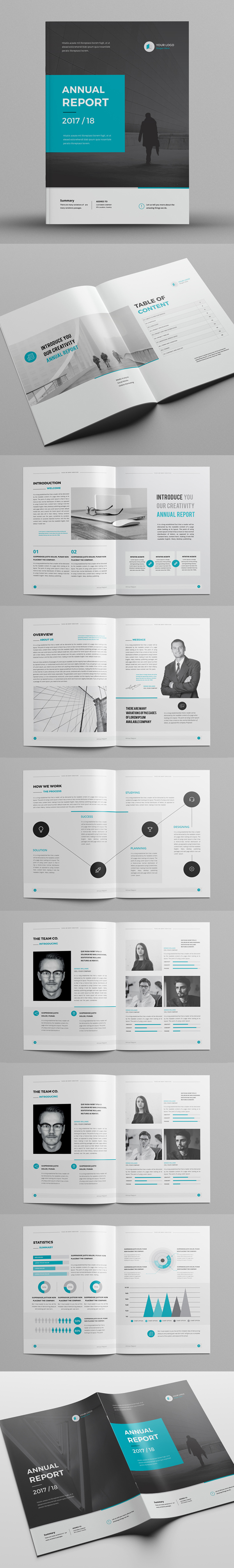 This InDesign Brochure Annual Report