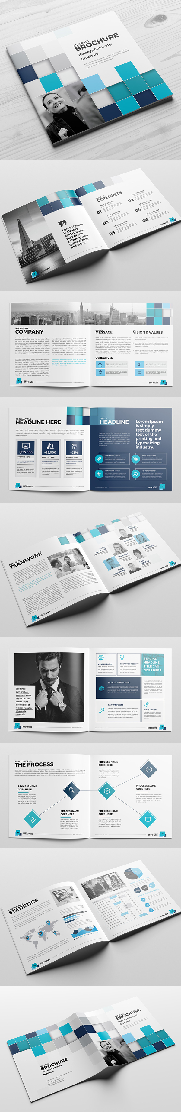 Abstract Square Brochure