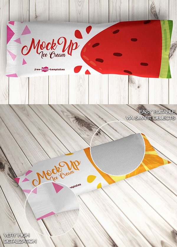 Free Ice Cream Package Mockups PSD