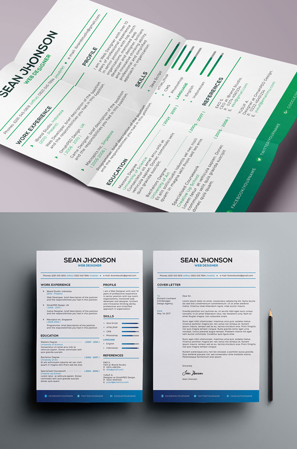 50 Free Resume Templates: Best Of 2018 -  34
