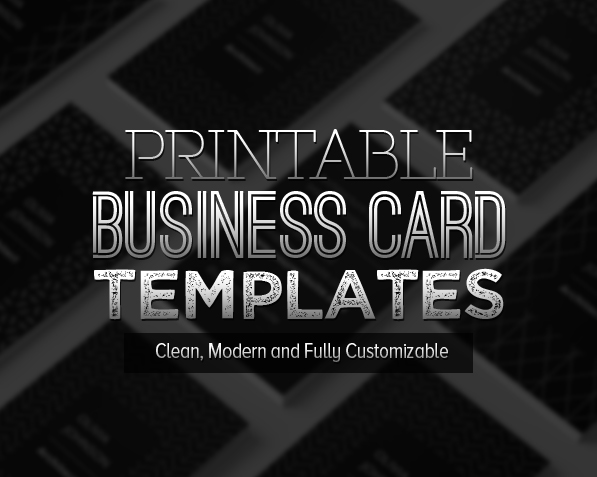 New Printable Business Card Templates