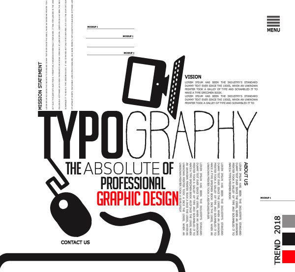 Typography – The Absolute of Professional Graphic Design