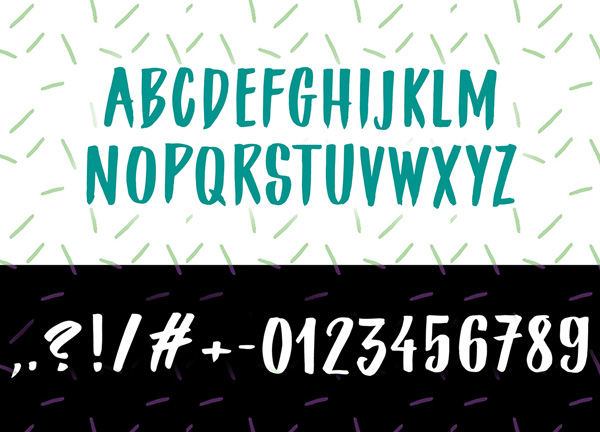 Roughbrush Free Font  Letters