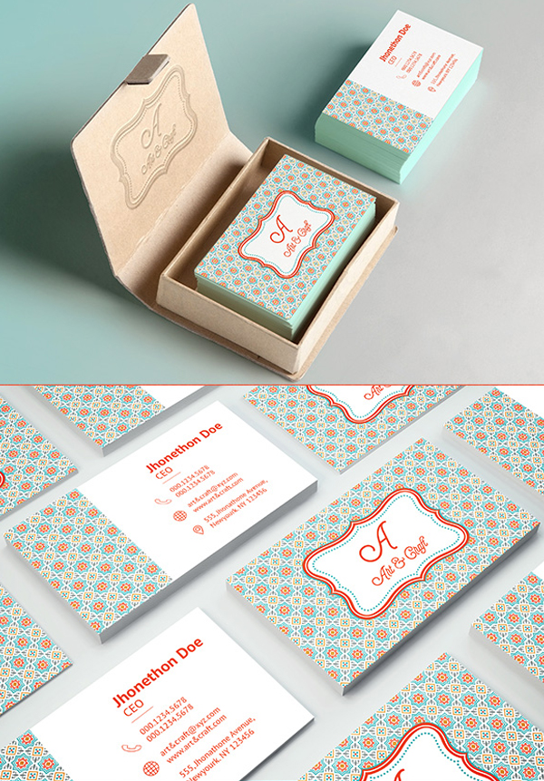 26 Modern Free Business Cards PSD Templates - 10