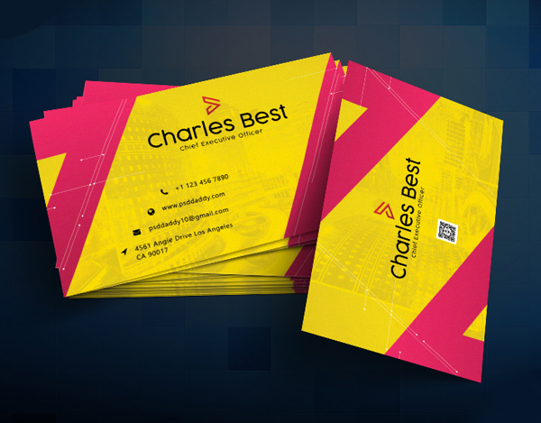 26 Modern Free Business Cards PSD Templates - 14