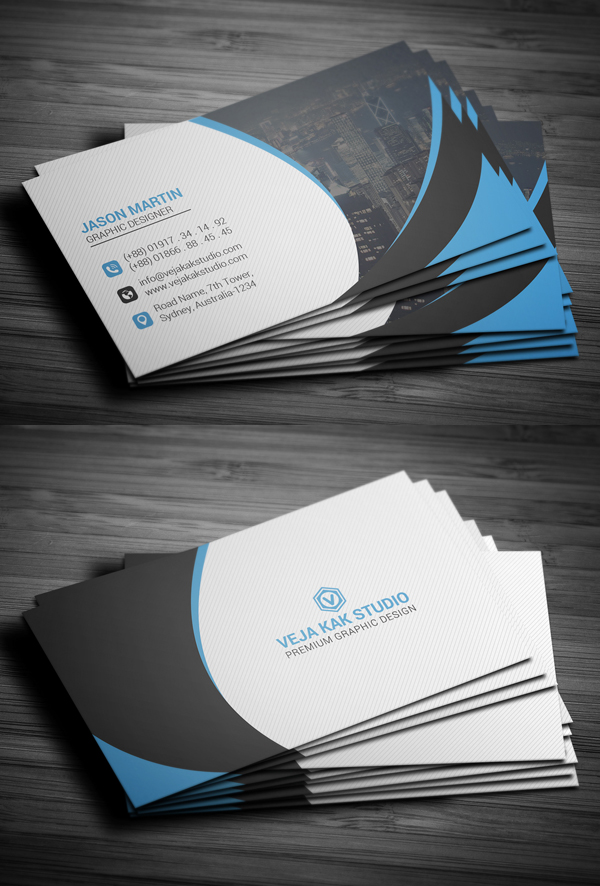 26 Modern Free Business Cards PSD Templates - 24