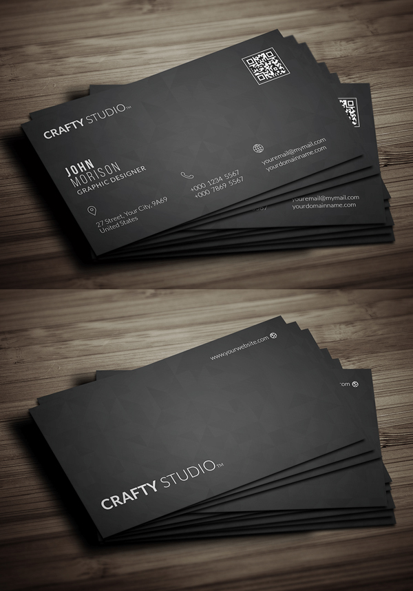 26 Modern Free Business Cards PSD Templates - 4