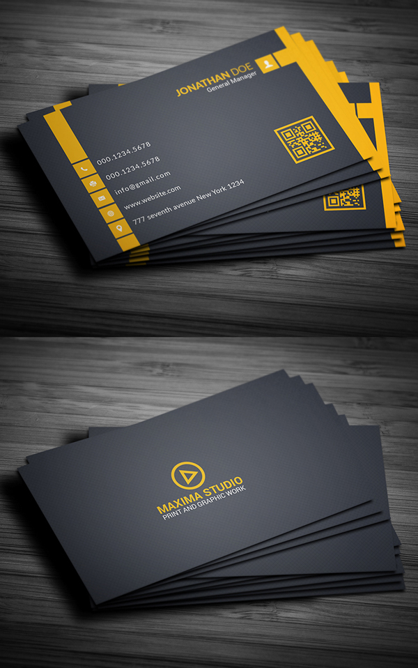 26 Modern Free Business Cards PSD Templates - 6