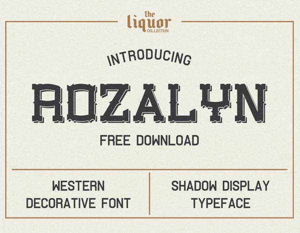 Rozalyn Shadow Free Font