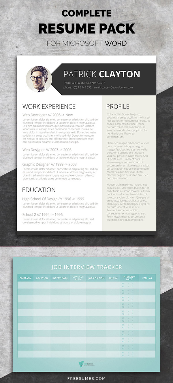Smart And Professional Complete Resume Pack