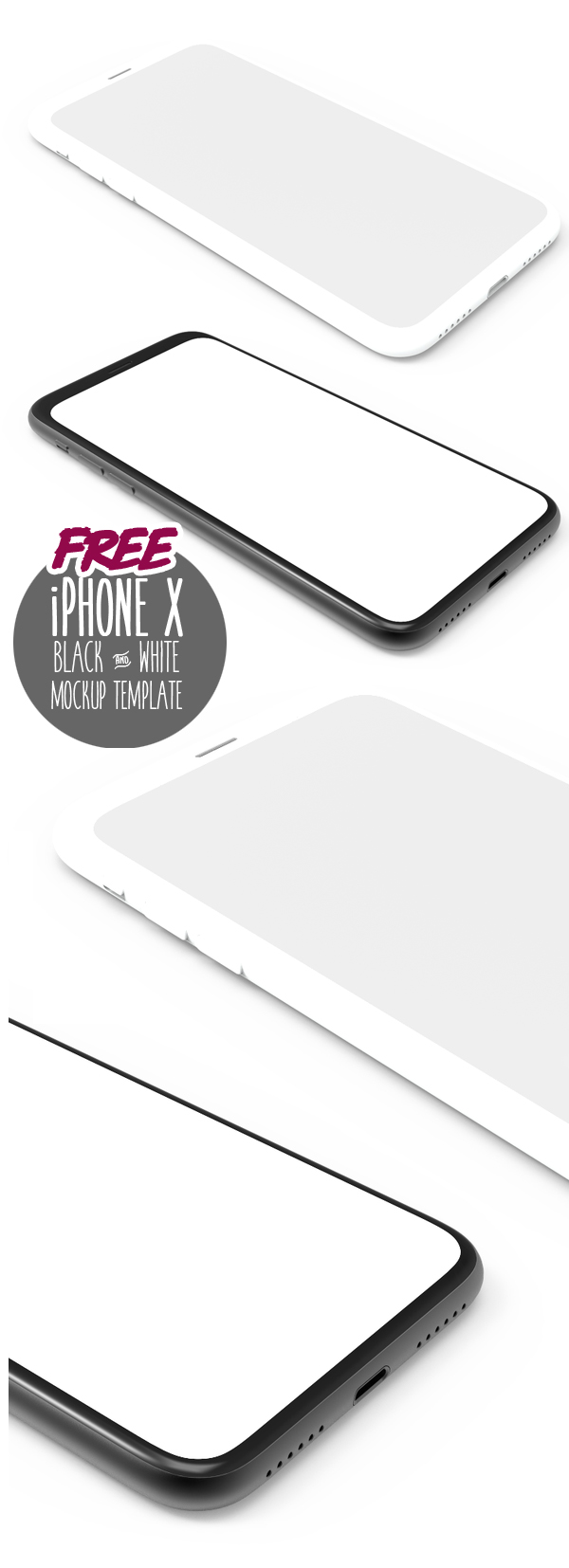 Free Download iPhone X PSD Mockups and Sketch - 16