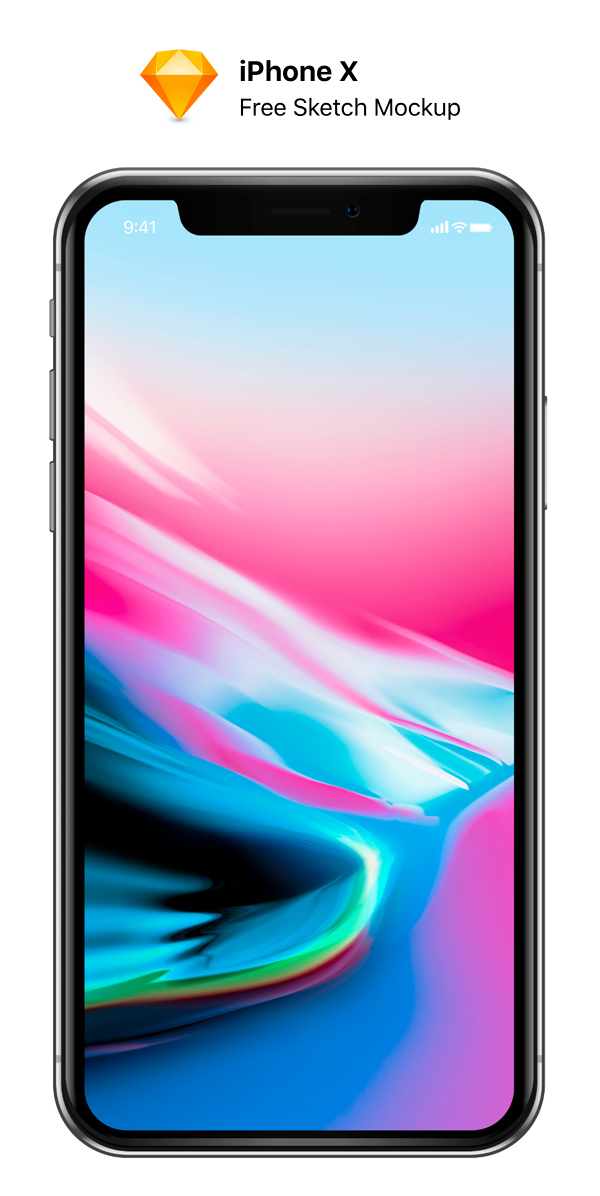 Free Download iPhone X PSD Mockups and Sketch - 3