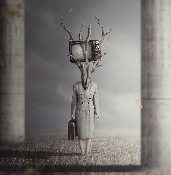 How to Create a Surreal TV Head Photo Manipulation With Adobe Photoshop