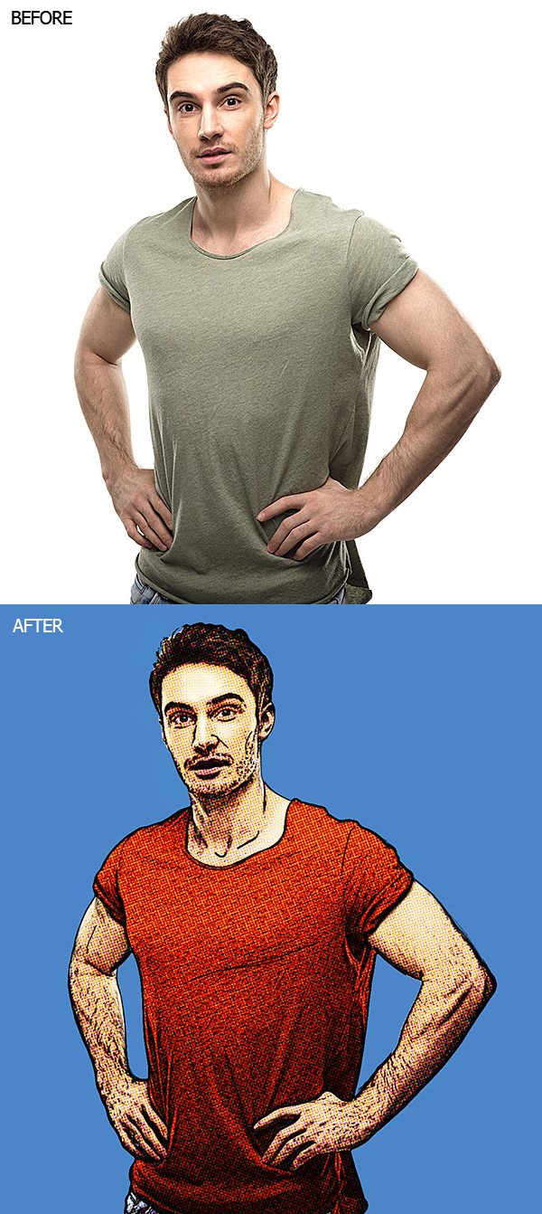 How to Create Retro COMIC BOOK Effect From a Photo in Photoshop