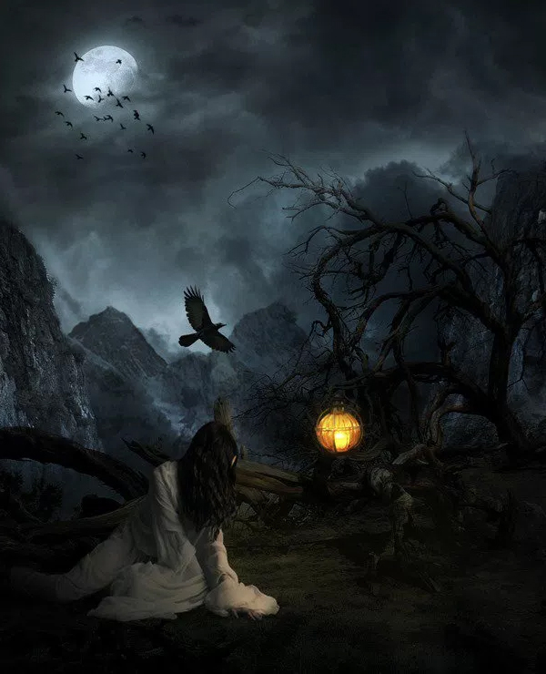 Creepy Lady on a Dark Mountain – Learn How to Create This Composite in Photoshop