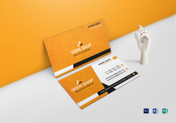 Executive Business Card Template