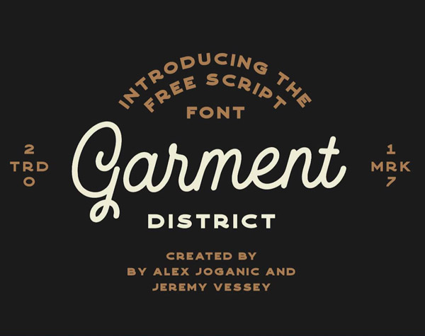 Garment District Free Font