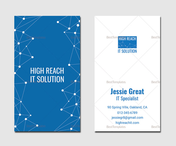 Information Technology Business Card Template