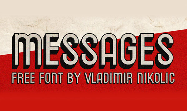Messages Free Font