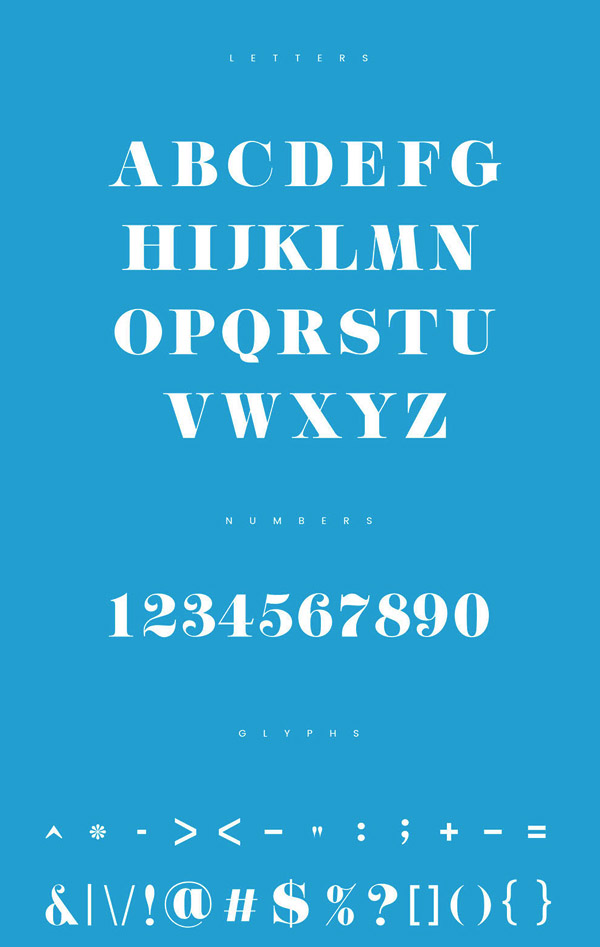 Quenos Free Font Letters
