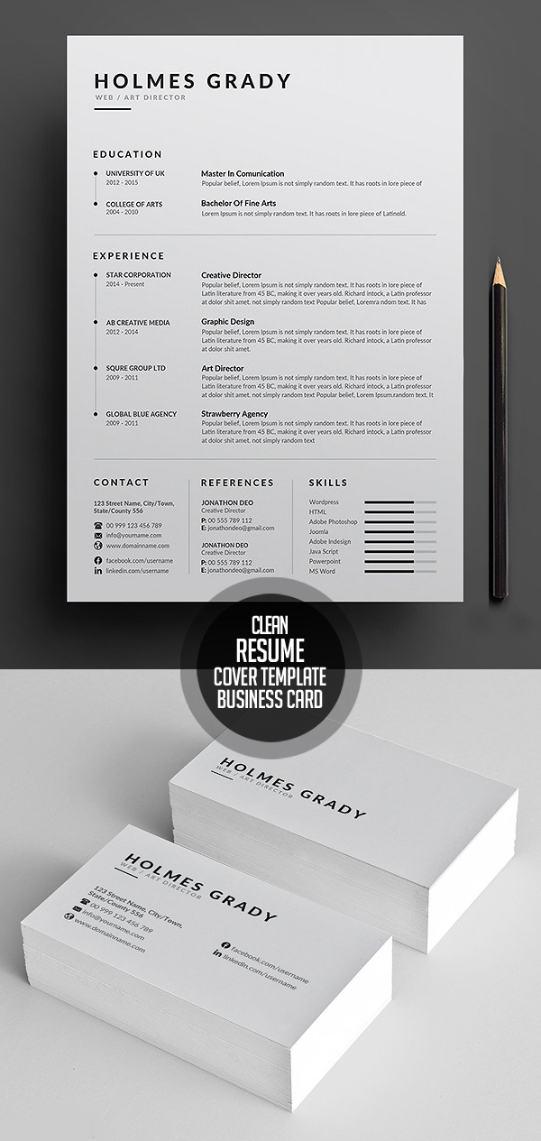 50 Best Resume Templates For 2018 - 16
