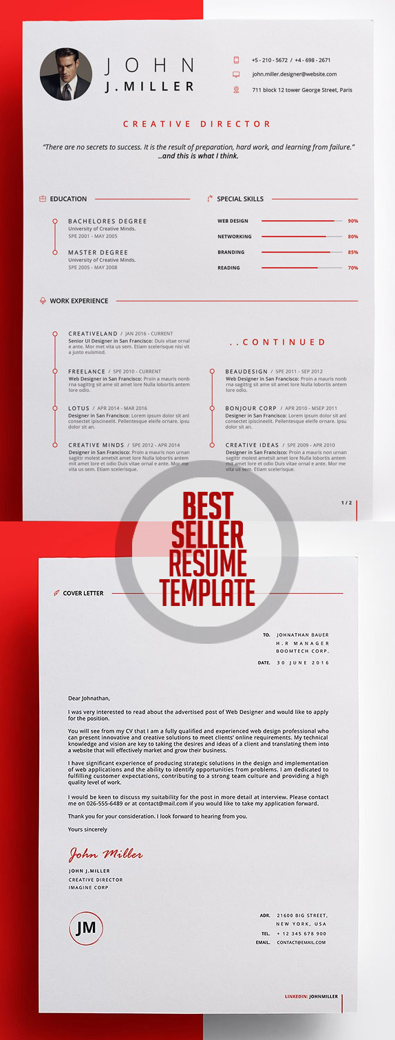 50 Best Resume Templates For 2018 - 21