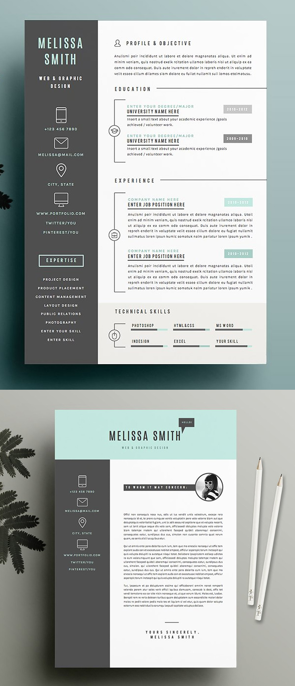 50 Best Resume Templates For 2018 - 25