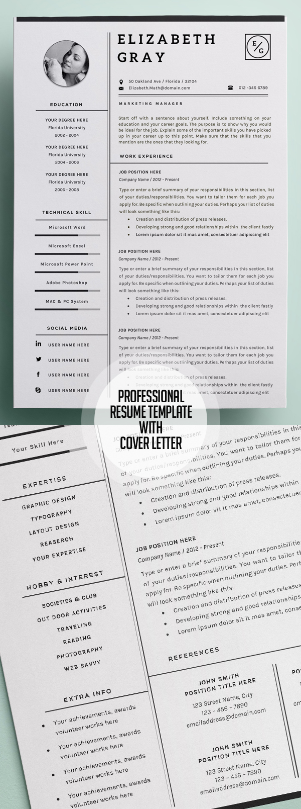 50 Best Resume Templates For 2018 - 30