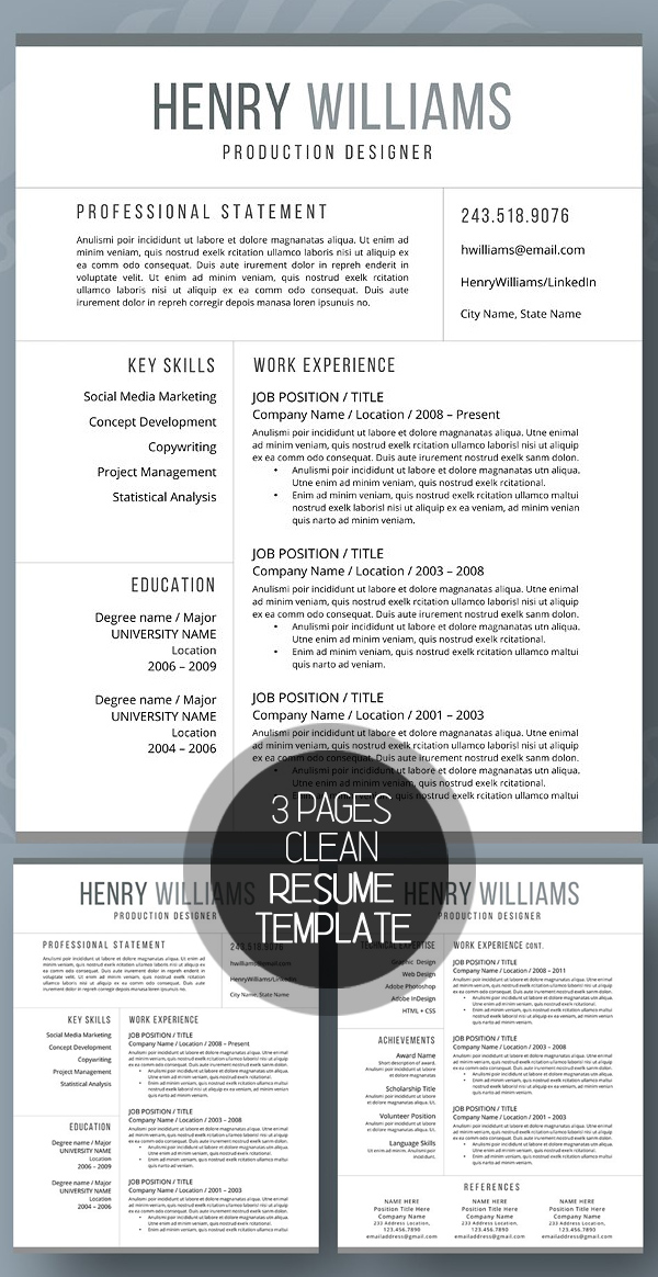 50 Best Resume Templates For 2018 - 37