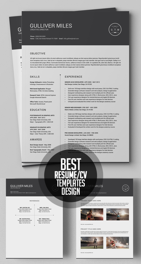 50 Best Resume Templates For 2018 - 45