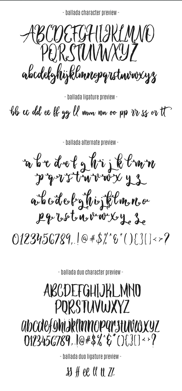 MBallada Font Free Download