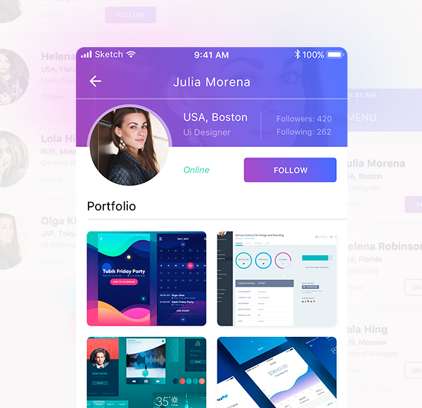 Design graphics for mobile app