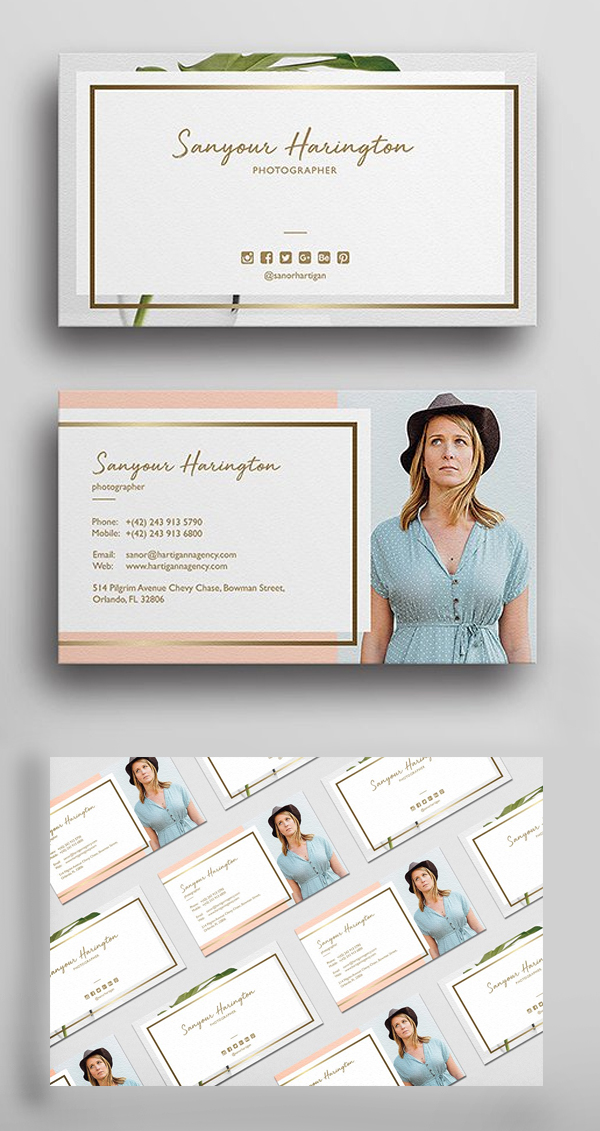 Stylish Photography Business Card