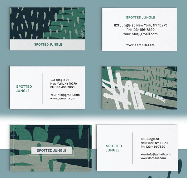 Paint Stroke Collage Business Cards
