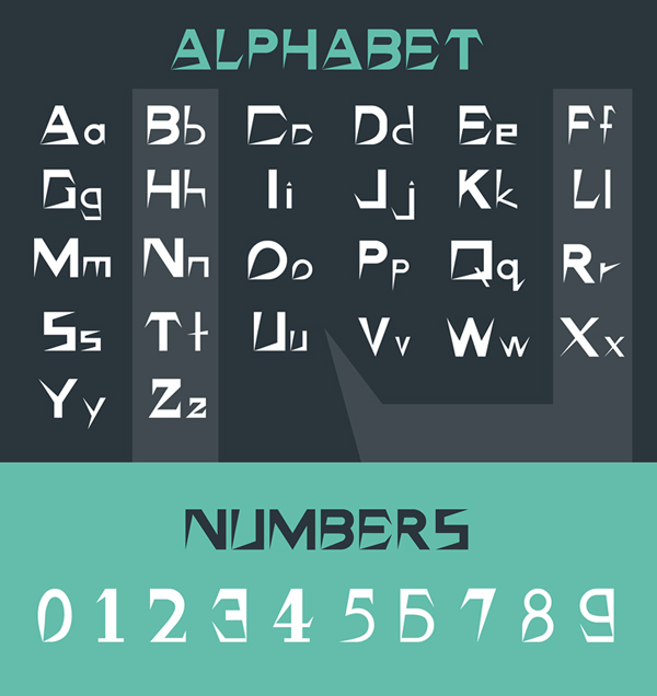 Grista Font Letters and Numbers