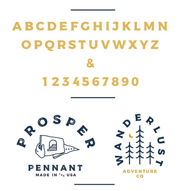 Messenger Font Letters and Numbers