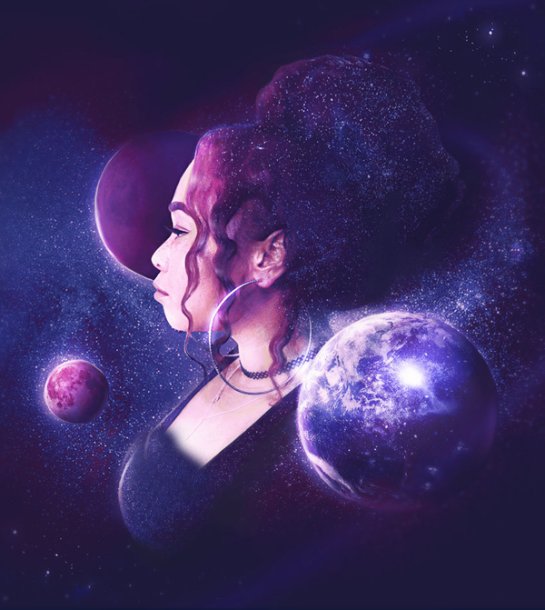 How to Create a Galaxy-Inspired Self-Portrait Photo Manipulation in Adobe Photoshop