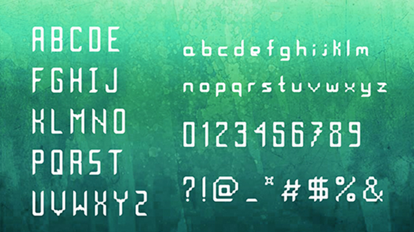 Indyga Free Font Letters