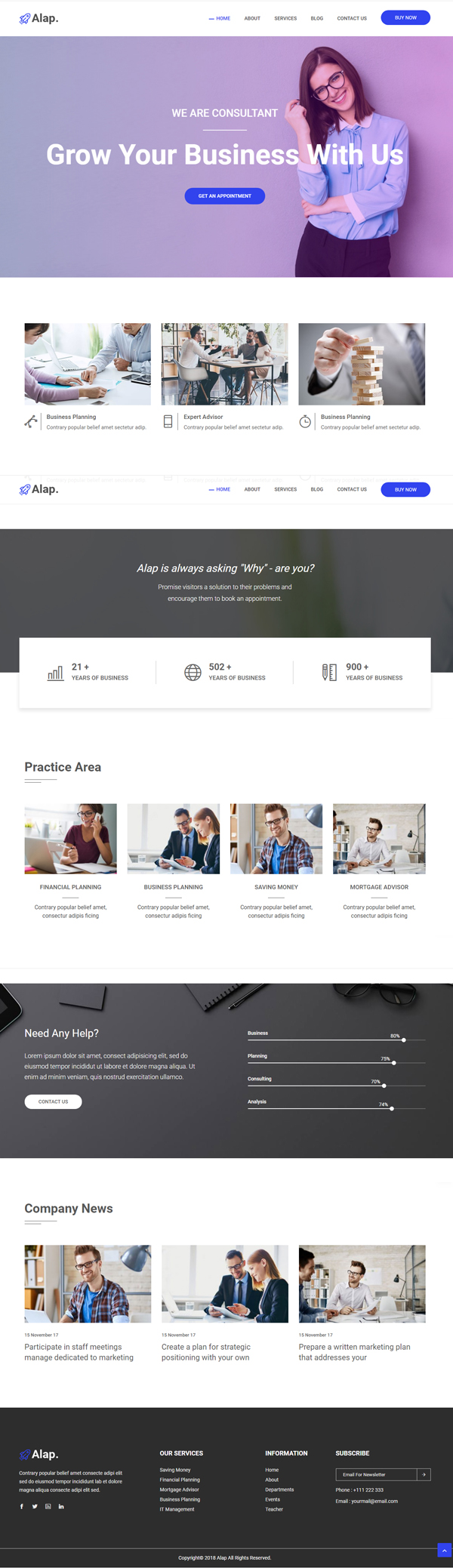Alap – Consulting and Business WordPress Theme