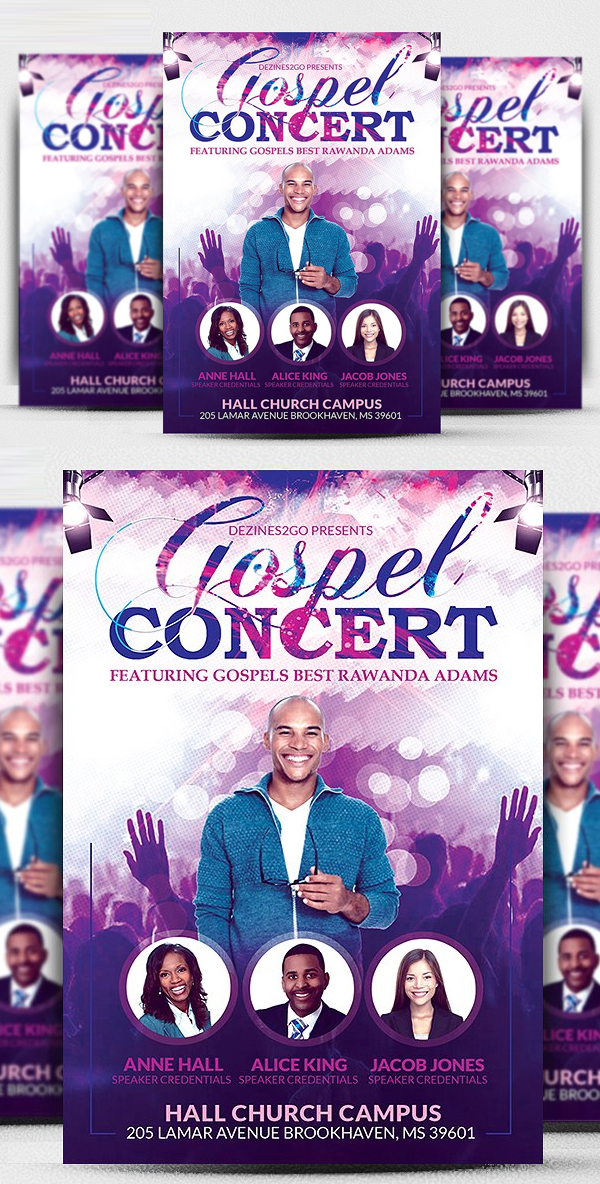Gospel Concert and Church Flyer Template