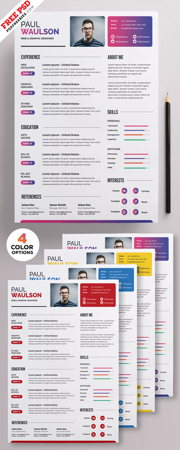 50 Free Resume Templates: Best Of 2018 -  29