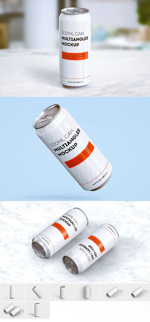 Can Mock-up (500 ml)