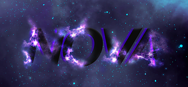 Create a Glowing Space Text Effect in Photoshop