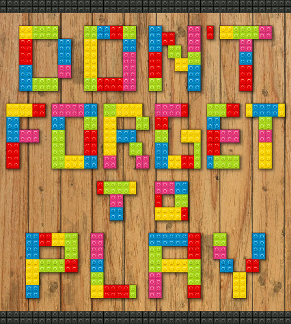 How to Create a Lego Text Effect in Adobe Illustrator