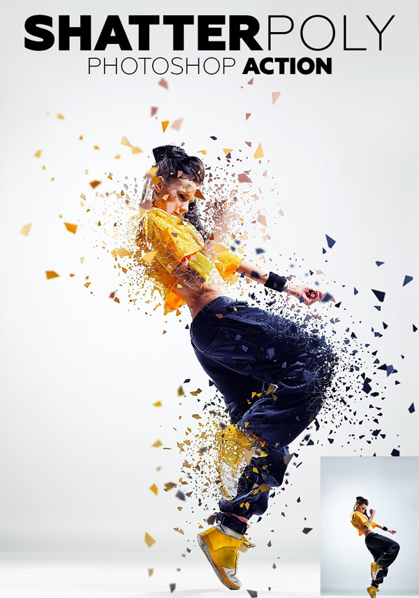 How to Create a Shatter Photoshop Effect Action